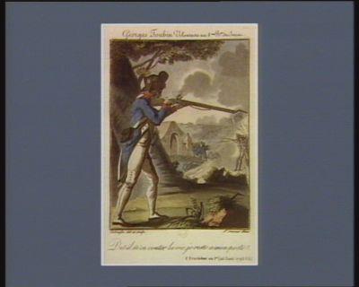 Georges Toubin volontaire du 8.ème b.on du Jura dut-il m'en couter la vie, je reste à mon poste. 8 fructidor an 1er (25 aout <em>1793</em> v.s.) : [estampe]