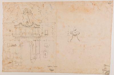 Porta del Popolo, rilievo