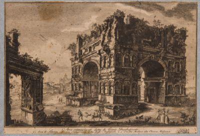 Giano del Velabro, veduta dell'Arco degli Argentieri