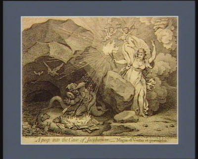 "A Peep into the cave of jacobinism. - ""Magna est veritas et praevalebit"" [estampe]"