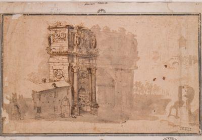 Arco di Costantino visto dal Colosseo