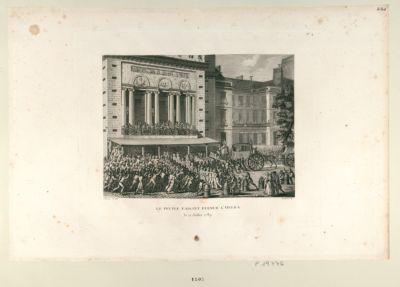 Le  Peuple faisant fermer l'Opéra le 12 juillet 1789 : [estampe]