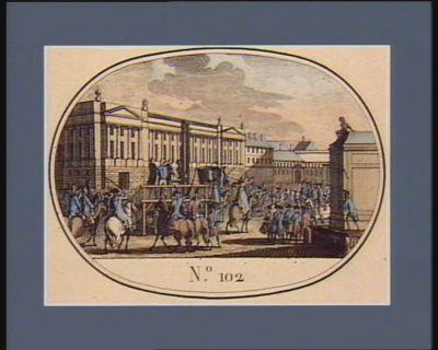 N.o 102 21 janvier 1.r pluviose. Supplice de Louis Capet, ci devant Roi des Français... : [estampe]