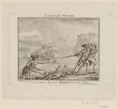 Le  Général Moreau je veux sauver les jours d'un défenseur de la patrie. 10 thermidor an 2 : [estampe]
