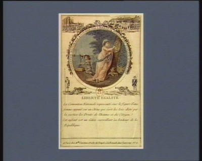 Liberté égalité Convention nationale 4 octobre 1792 liberté 14 juillet 1789 égalité 10 août 1792 : [estampe]