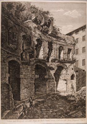 Mercati Traianei, veduta dei Bagni di Paolo Emilio