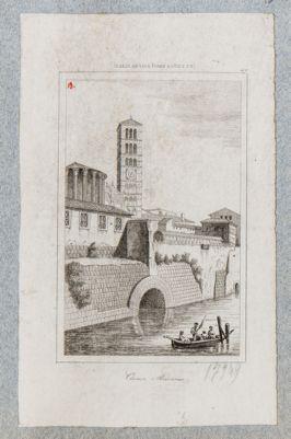 Cloaca Massima, sbocco sul fiume con parte dell'antico argine