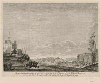 Theatre de la guerre entre le roi de Hongrie et de Bohême et la nation française tiré du grand atlas d'Allemagne... : [estampe]