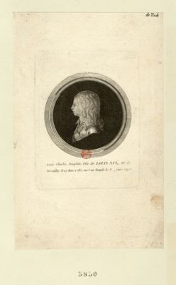 Louis Charles, Dauphin, fils de Louis XVI né à Versailles le 27 mars 1785, mort au Temple le 8 juin 1795 : [estampe]
