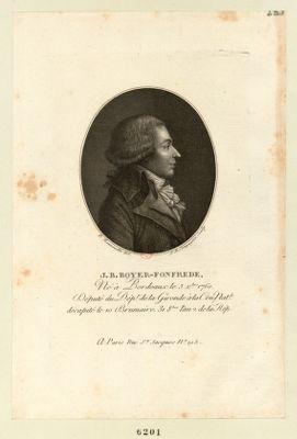 J.B. Boyer-Fonfrede né à Bordeaux le 5 X.bre 1760 député du dép. t de la Gironde à la Con. nat.le... : [estampe]