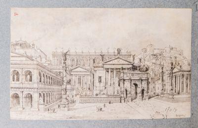 Foro Romano, panorama nord-ovest, ricostruzione