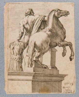 Fontana dei Dioscuri al Quirinale, una delle due statue equestri