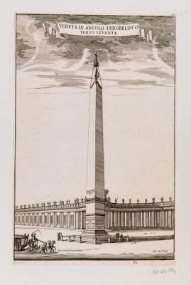 Veduta in angolo dell'obelisco verso levante