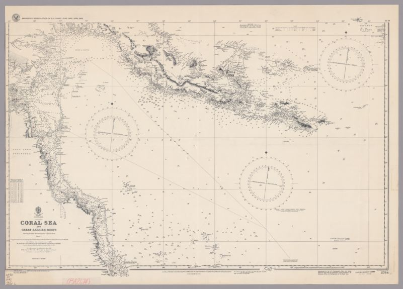 Australia : Coral Sea and Great Barrier Reefs. Sheet 2, Showing the Inner and Outer routes to Torres Strait