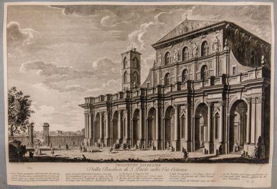 Chiesa di S. Paolo fuori le Mura. Facciata e portico