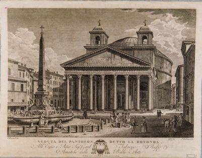 Veduta del Pantheon detto la Rotonda