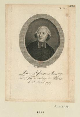 Jean Sifrein Maury dep.té par le baillage de Péronne le 1er avril 1789 : [estampe]