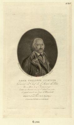 Adam Philippe Custine général en chef de l'armée du Rhin né a Metz le 4 février 1740... : [estampe]
