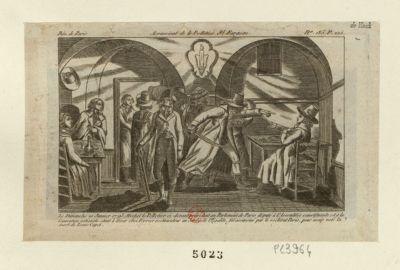 Assassinat de Le Pelletier St Fargeau le dimanche 20 janvier 1793 Michel Le Pelletier ci-devant président au Parlement de Paris... : [estampe]
