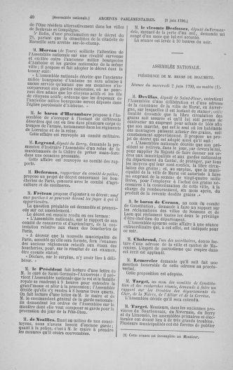 Tome 16 : Du 31 mai au 8 juillet 1790 - page 40