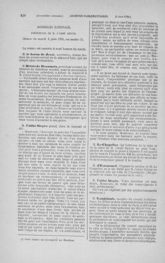 Tome 16 : Du 31 mai au 8 juillet 1790 - page 138