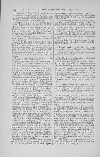 Tome 16 : Du 31 mai au 8 juillet 1790 - page 146
