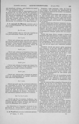Tome 16 : Du 31 mai au 8 juillet 1790 - page 161