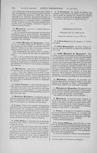 Tome 16 : Du 31 mai au 8 juillet 1790 - page 164
