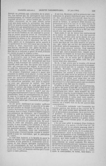 Tome 16 : Du 31 mai au 8 juillet 1790 - page 243