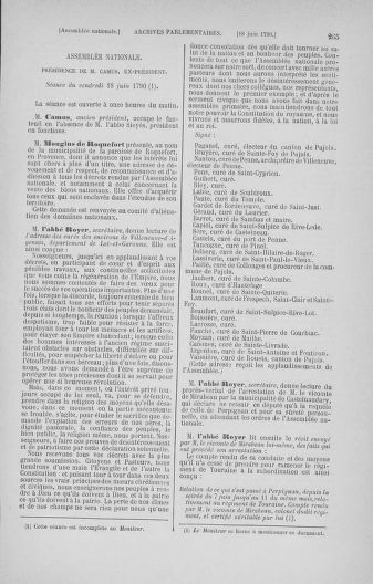 Tome 16 : Du 31 mai au 8 juillet 1790 - page 265