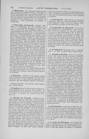 Tome 16 : Du 31 mai au 8 juillet 1790 - page 374