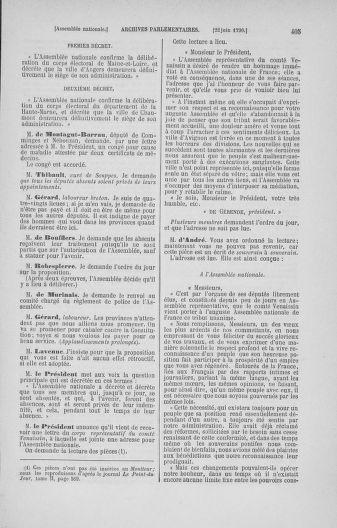 Tome 16 : Du 31 mai au 8 juillet 1790 - page 405