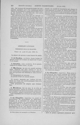 Tome 16 : Du 31 mai au 8 juillet 1790 - page 448