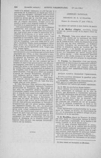 Tome 16 : Du 31 mai au 8 juillet 1790 - page 506