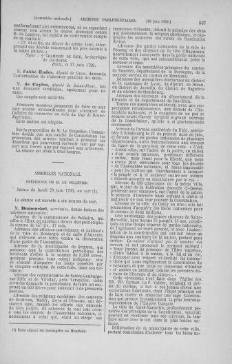 Tome 16 : Du 31 mai au 8 juillet 1790 - page 537