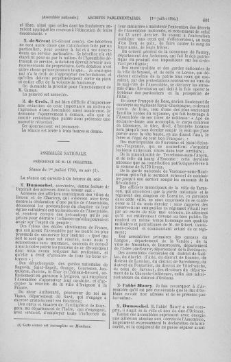 Tome 16 : Du 31 mai au 8 juillet 1790 - page 601