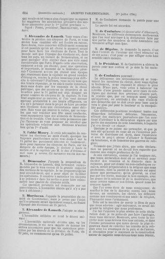 Tome 16 : Du 31 mai au 8 juillet 1790 - page 604
