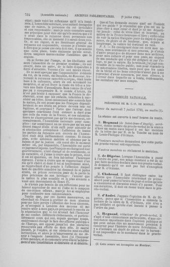 Tome 16 : Du 31 mai au 8 juillet 1790 - page 734