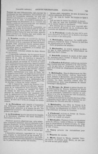 Tome 16 : Du 31 mai au 8 juillet 1790 - page 745