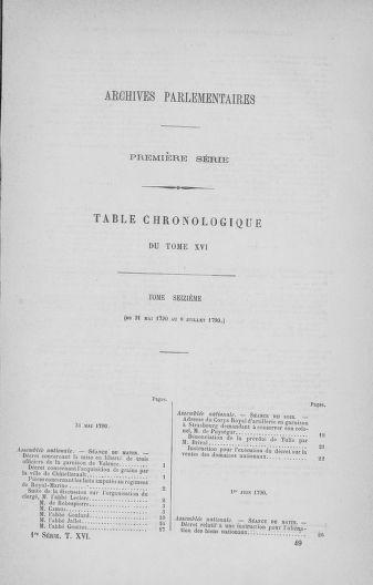 Tome 16 : Du 31 mai au 8 juillet 1790 - page ..