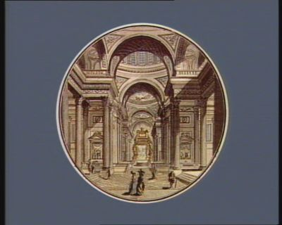 Vue de l'intérieur de la nouvelle eglise de Ste Genevieve de Paris [estampe]