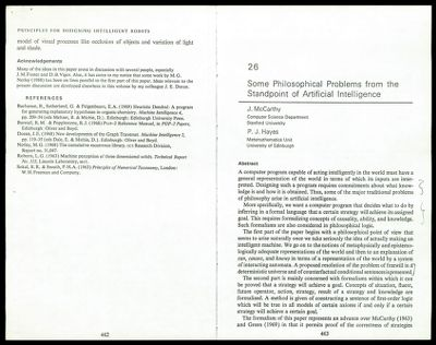 """Copies of: """"The Computer and the Brain"""" John von Neumann """"Production Systems: Models of Control Structures"""" A. Newell """"The Role of Raw Power in Intelligence"""" H. Moravec, 1976 """"KRS - Chap. 1 (draft)"""" Brian Smith, 1977 Course Description, CS 365 - Seminar in Computational Linguistics, Spr 1977. Winograd """"Sentence Perception as an Interactive Parallel Process"""" William Marslen-Wilson, July 1975 """"Lambda: The Ultimate Declarative"""" G.L. Steele Jr. 1976 """"Lambda: The Ultimate Imperative"""" G.L. Steele Jr. and G.J. Sussman 1976 """"In Defence of Logic (draft)"""" P.J. Hayes """"Reasoning about knowledge and action"""" R. Moore. """"The Semantic Conception of Truth"""" A. Tarski """"The Representation of Semantic Knowledge"""" G. Hendrix """"A Formalism for Modelling"""" H. Levesque et al. """"A Theory of English Grammar"""" B. Martin, 19 76 """"Some Philosophical Problems from the Standpoint of Artificial Intelligence"""" J. McCarthy and P.J. Hayes"""