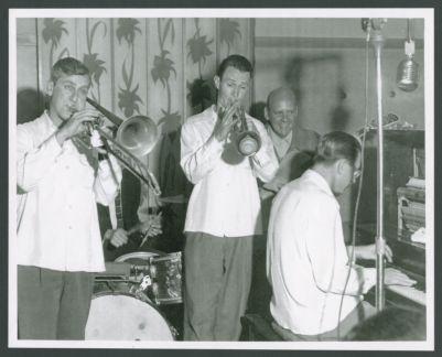 Bob Scobey Band: Jack Buck, Gordon Edwards, Bob Scobey, Clancy Hayes and Burt Bales