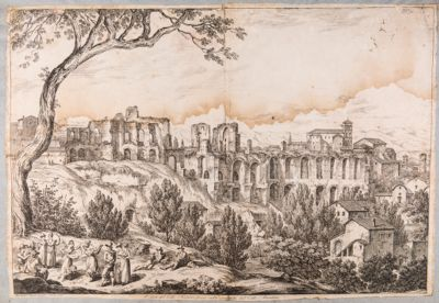 Panorama del Colle Palatino, resti della Domus Severiana
