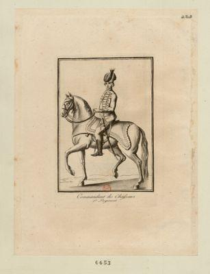Commandant des chasseurs 1.er regiment : [estampe]