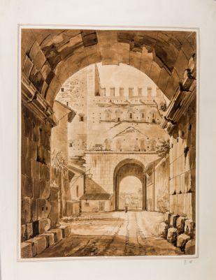 Porta Appia (Porta San Sebastiano), interno