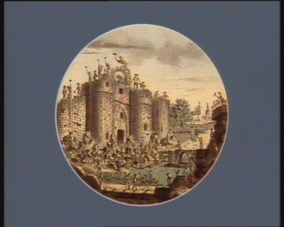 Vue de la Bastille prise de la gallerie en face du boulevard [estampe]