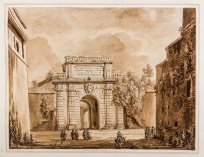 Porta San Pancrazio in Roma, esterno
