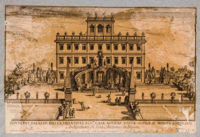 Villa Altieri, prospetto