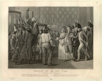 Journée du 20 juin 1792, au château des Tuileries [estampe]